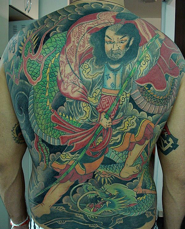dragon vs samurai by leco tattoo