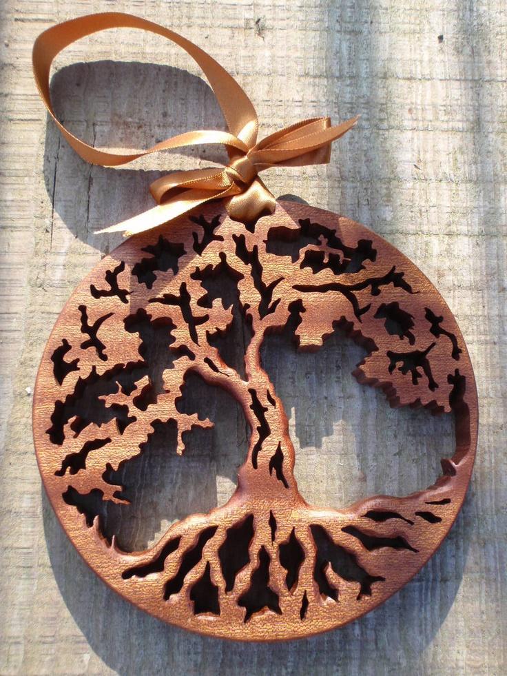 Tree Of Life Christmas Tree Ornament Scroll Saw