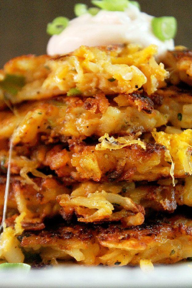 Potato cheese latkes.