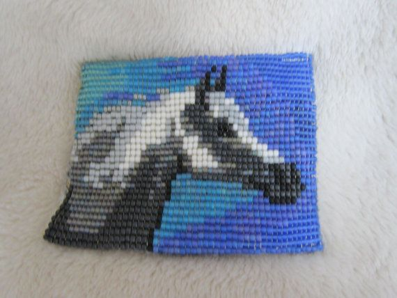 Bead loom pattern, arabian horse beadloom design, Rose glow, instant digital download!  This design is based on one of my original paintings and makes a quick loom beadwork project suitable for embellishing a bag, amulet purse or jacket. This pattern will work up to a size of approximately 2.5 inches tall using standard 11/0 seed beads (dimensions subject to change if other sizes and varieties of beads are used). The instructions to do beaded loom work are not included in this file, but ...
