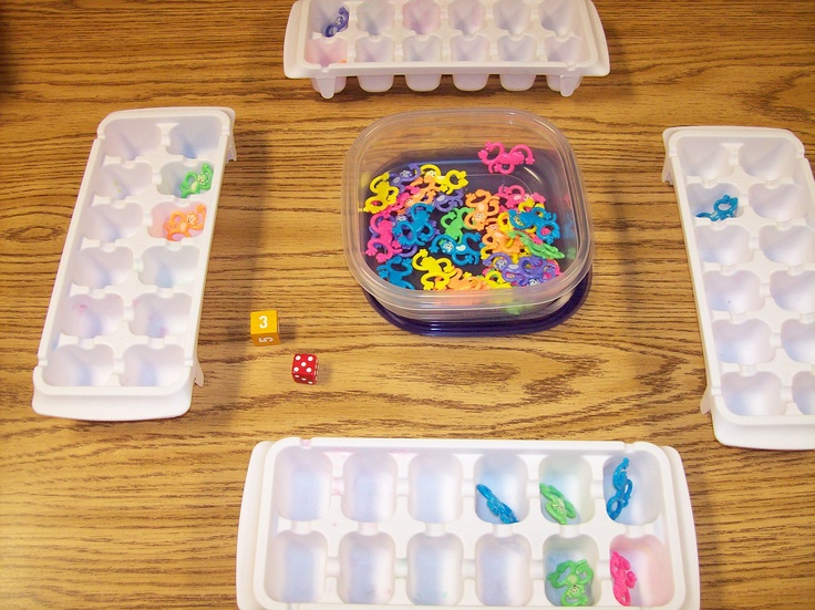 Cooperation, number recognition, counting/adding, more/less....lots of other great ideas on this site too!