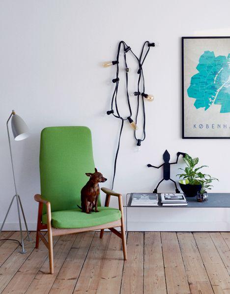 Grøn stol