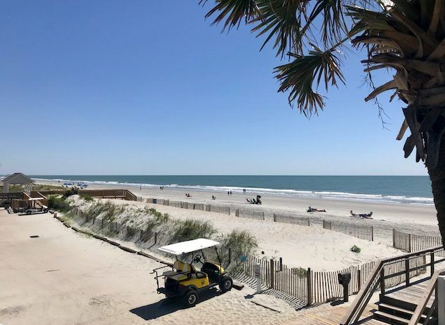 Our Private Beach Lot In Surfside Beach South Carolina For Our