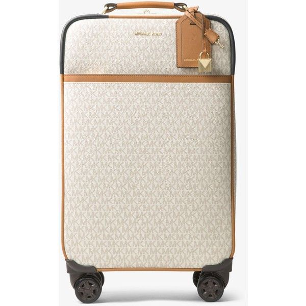 MICHAEL Michael Kors MICHAEL Michael Kors Jet Set Travel Logo Suitcase ($598) ❤ liked on Polyvore featuring bags and luggage