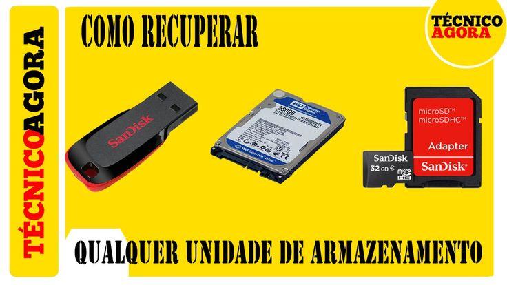 Como recuperar qualquer PENDRIVE, HD, HD USB e Cartão SD.