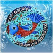 işlendiği cini tabak incele 50 cm rumi tarzı cini tabak mavi ...