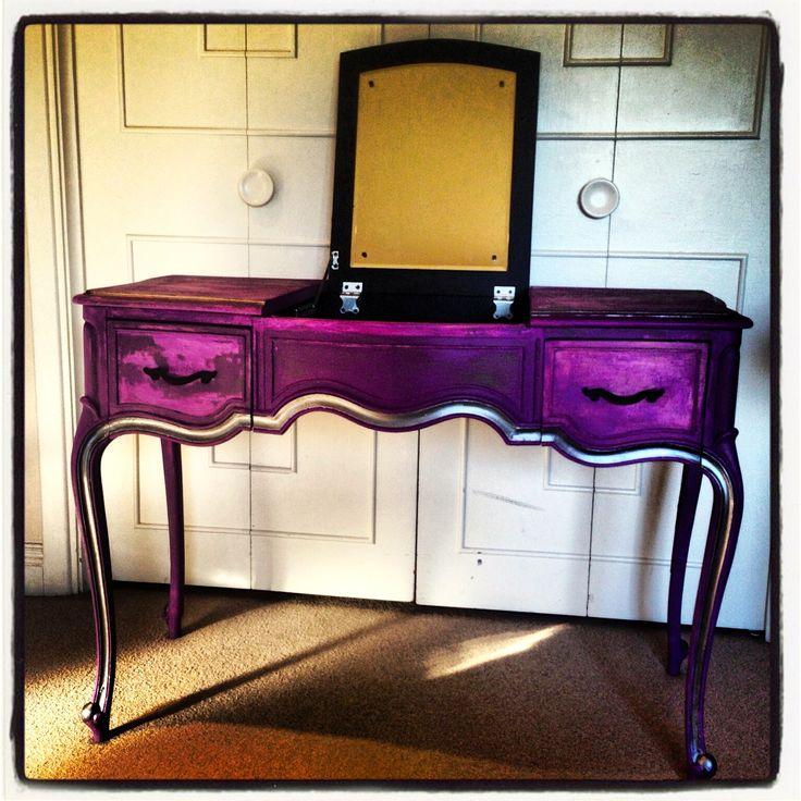 sonic plum vintage purple vanity drexel