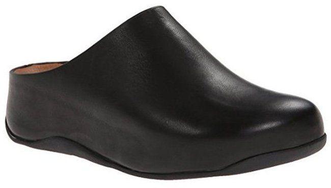 #FitFlop Fitness Schuhe - Clogs Shuv, Leder, schwarz.