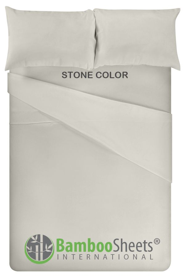 Our Premium 100 Bamboo Sheet Set In King Size Stone Color Are