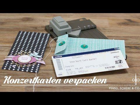 Umschlag für Konzertkarten mit dem Stanz- und Falzbrett für Geschenktüten   Fadenverschluss - YouTube