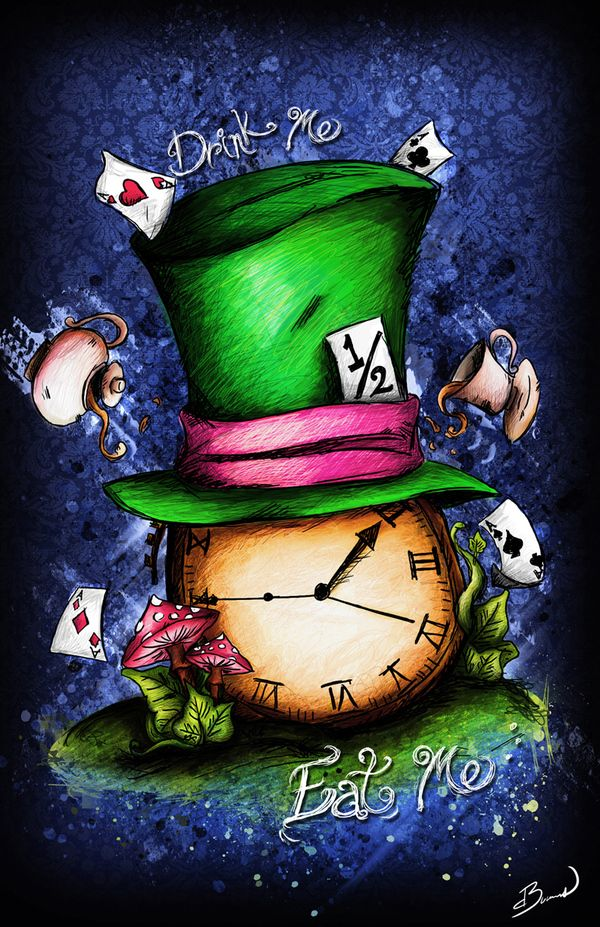 """Have I gone mad""...The Hatter on Behance by Dalys Burnes"