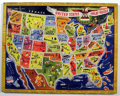 A.M. Walzer Co. United States Inlay Puzzle by Marxchivist, via Flickr