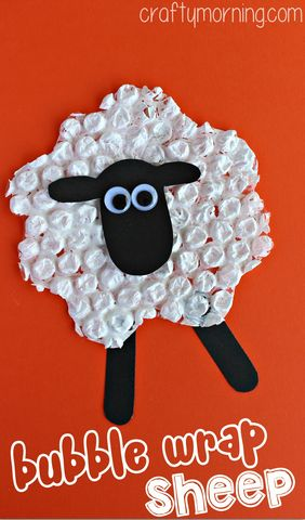 Bubble Wrap Sheep Craft for Kids | CraftyMorning.com