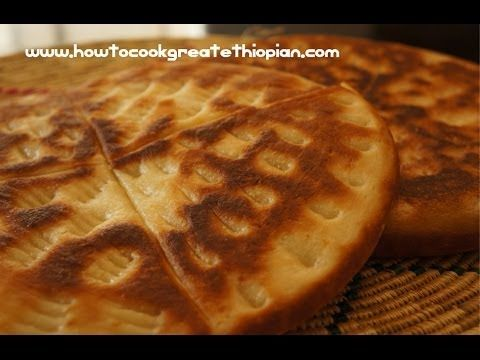Ethiopian Food - Ambasha Bread Recipe - Amharic English Baking - Not Inj...
