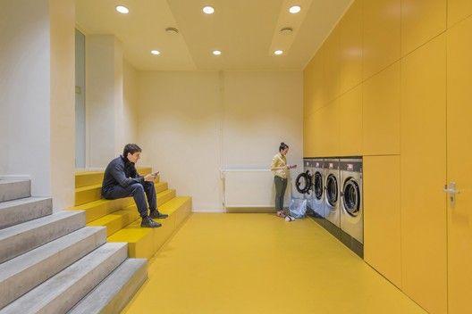 Complejo de vivienda estudiantil en el edificio de oficinas Elsevier,© Leonard Fäustle