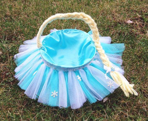 Frozen Inspired Tutu Easter Baskets. Elsa by DaddyzLittleDivaShop