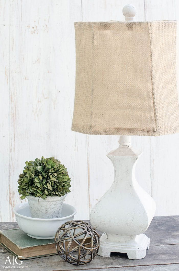 USED JOINT COMPOUND Rustic Farmhouse Lamp Makeover - anderson + grant