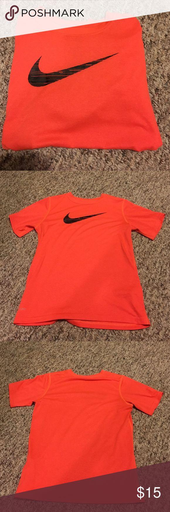 Nike boys medium orange tee Bright orange, worn once, doesn't fit. Damage free! Smoke free home Nike Shirts & Tops Tees - Short Sleeve