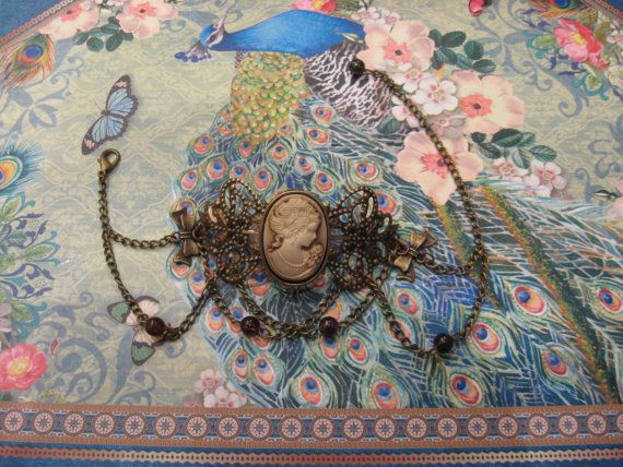 Lady Victoria steampunk victorian bracelet by AssassinKittyCustoms, £13.00