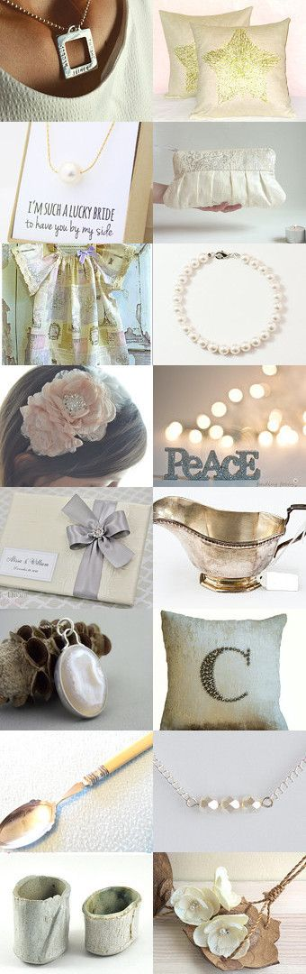 Creamy Wedding on Etsy. Featuring Jules Read Jewellery and Australian Wandarrah shops.