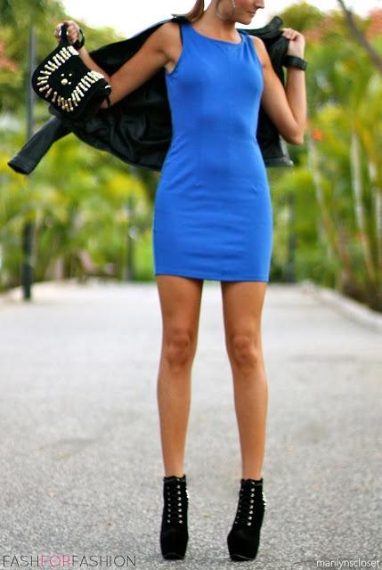 Cobalt blue dress.. Sexy