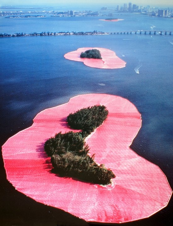 Christo's Surrounded Islands of Biscayne Bay