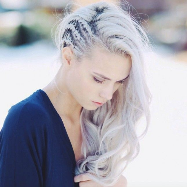 Add some texture to your hair with a few extra braids.