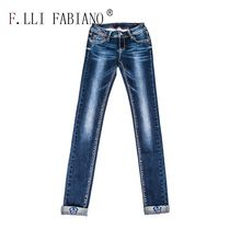 Women denim jeans printed letters on pockets colorful printed patterns cuffed women jeans high waist bleached pleated jeans Best Seller follow this link http://shopingayo.space