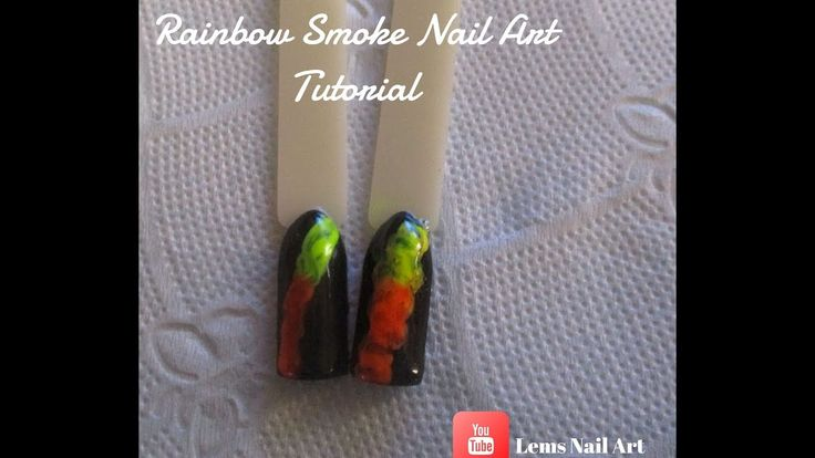 Rainbow Smoke Nail Art Tutorial