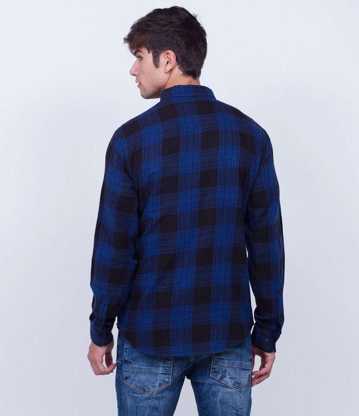Camisa masculina  Manga longa  Em xadrez  Marca: Blue Steel  Tecido: tricoline  Composição: 100% algodão  Modelo veste tamanho: M     COLEÇÃO INVERNO 2016     Veja outras opções de    camisas masculinas.