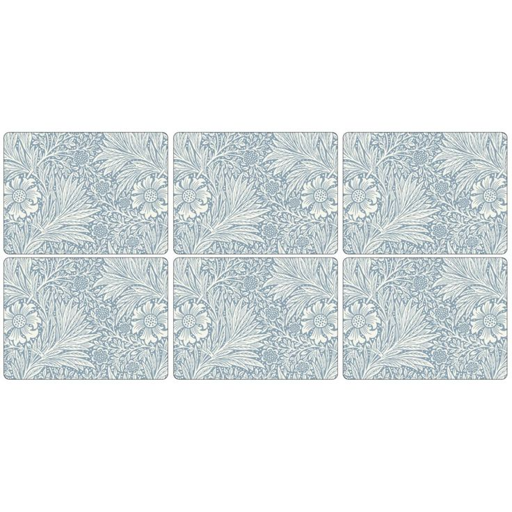 Image of Pimpernel William Morris Marigold Blue Placemats set of 6