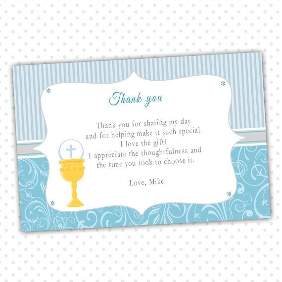 8 best Religious Party Thank You Cards images on Pinterest Card - printable thank you note