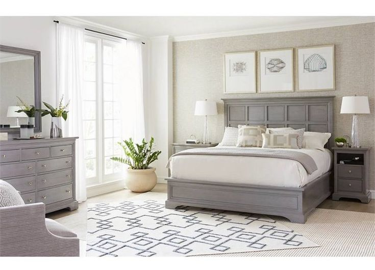 Transitional Panel Configurable Bedroom Set