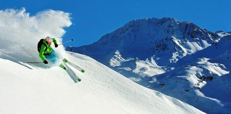 Perfect ski conditions at Les Menuires Ski Resort in France