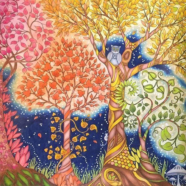 Details❤️💛 #enchantedforestcoloringbook #johannabasford #johannabasfordenchantedforest #enchantedforestcolouringbook #adultcoloringbook #coloringtherapy #mycreativeescape  #adultcolouring #prismacolor #boracolorirtop #desafioscoloridos  #arte_e_colorir #jardimsecreto #desenhoscolorir