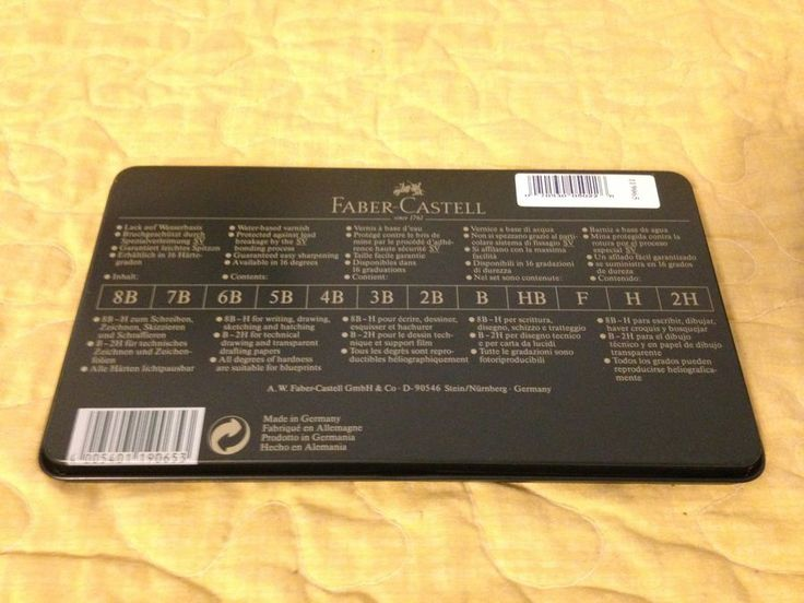 fabercastell 9000 art set 12 graphite pencils new in tin