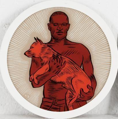 Conrad Botes, A Man with his Dog