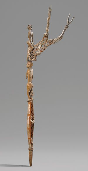 Bis Pole [Asmat people, Omadesep village, New Guinea, Papua (Irian Jaya) Province, Indonesia] | The Metropolitan Museum of Art. Ritual after deaths in a village. Used only once and then returned to the woods. Carved from one piece of wood. Originally associated with headhunting.Pole Asmat, Asmat People, Bis Pole, Papua Irian, Art History, Omadesep Village, Irian Jaya, Metropolitan Museums, Heilbrunner Timeline