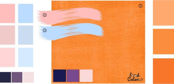 Светло-оранжевый цвет, сочетания оранжевого цвета