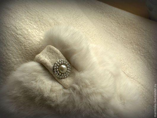 Верхняя одежда ручной работы. Валеное (свадебное) пальто с шелком Снежная королева. Анастасия Миронова. Ярмарка Мастеров. Свадебная одежда