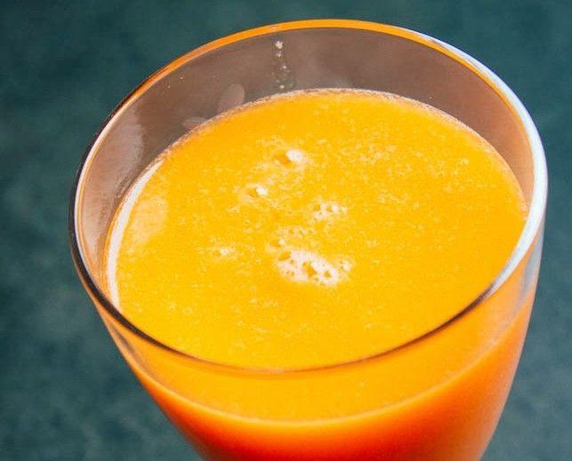 Narancs, répa smoothie gyömbérrel, citrommal
