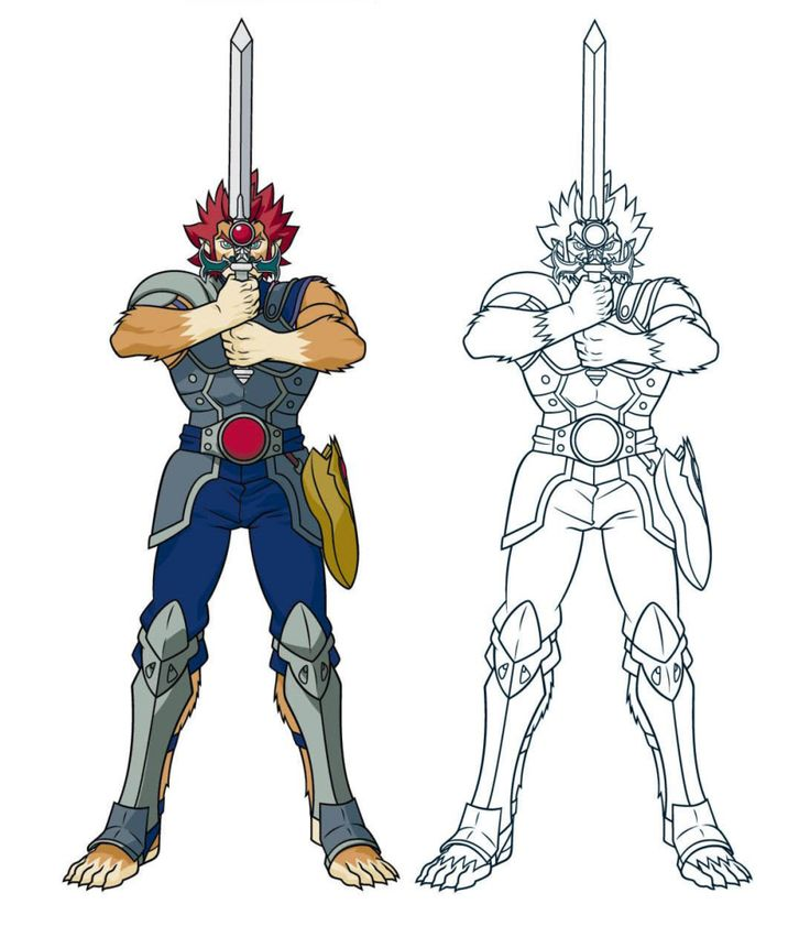 thundercats 2011 lion o and sword - Thunder Cats Coloring Book Pages