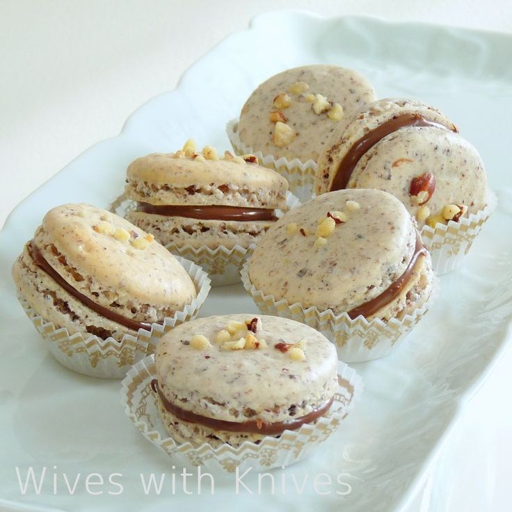 Hazelnut Chocolate Macarons   Wives with Knives