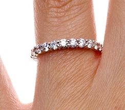 Luxe Eternity Shared Prong Diamond Ring (1 1/2 ct.tw.) - wouldn't want the diamonds all the way around, but this is friggen gorgeous.