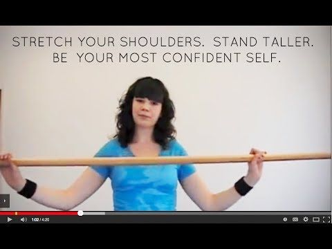 The broom stretch for shoulders - first learned this from Rachel @ Amorous & trust me - it's the real deal!