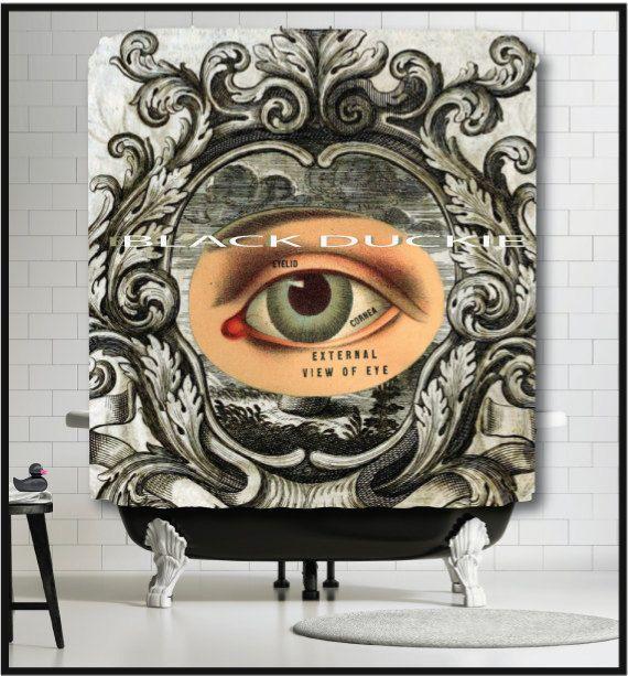 Anatómica del globo ocular de cortina de ducha cortina de