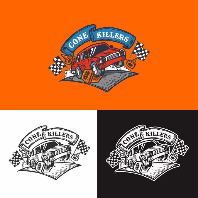 Create Logo for Car Racing Team Named Cone Crushers by Nico Strike*
