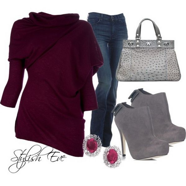 polyvore outfits | 2013 Outfits for Women by Stylish Eve Purple-Winter-2013-Outfits ...