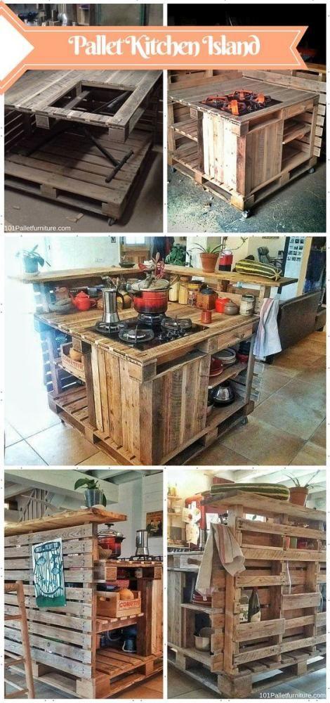 Kinti konyha ötlet | Forrás: Pallet Furniture via pinterest.com