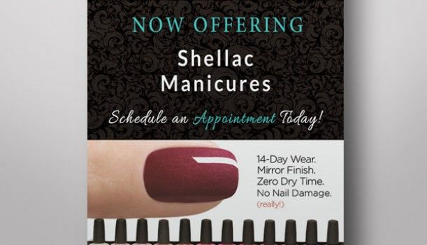 Shellac Manicure Flyer Design | Bear Creek Virtual Solutions – Websites, Print Design, Social Media Marketing and Virtual Assistant